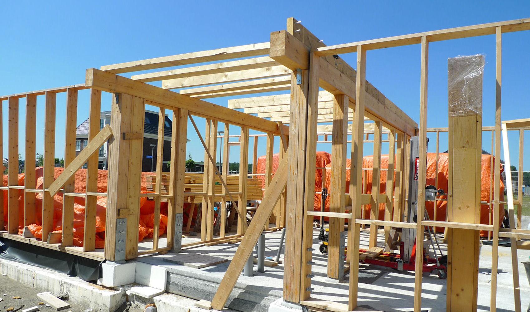Zelfbouw woning voor particulier opdrachtgevers in almere a studio ir hajo schilperoort for Hout huis